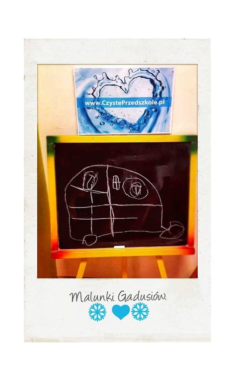 Czyste przedszkole, ozonowanie, Przedszkole Czuby Lublin, Przedszkole Gadu Gadu, tablica